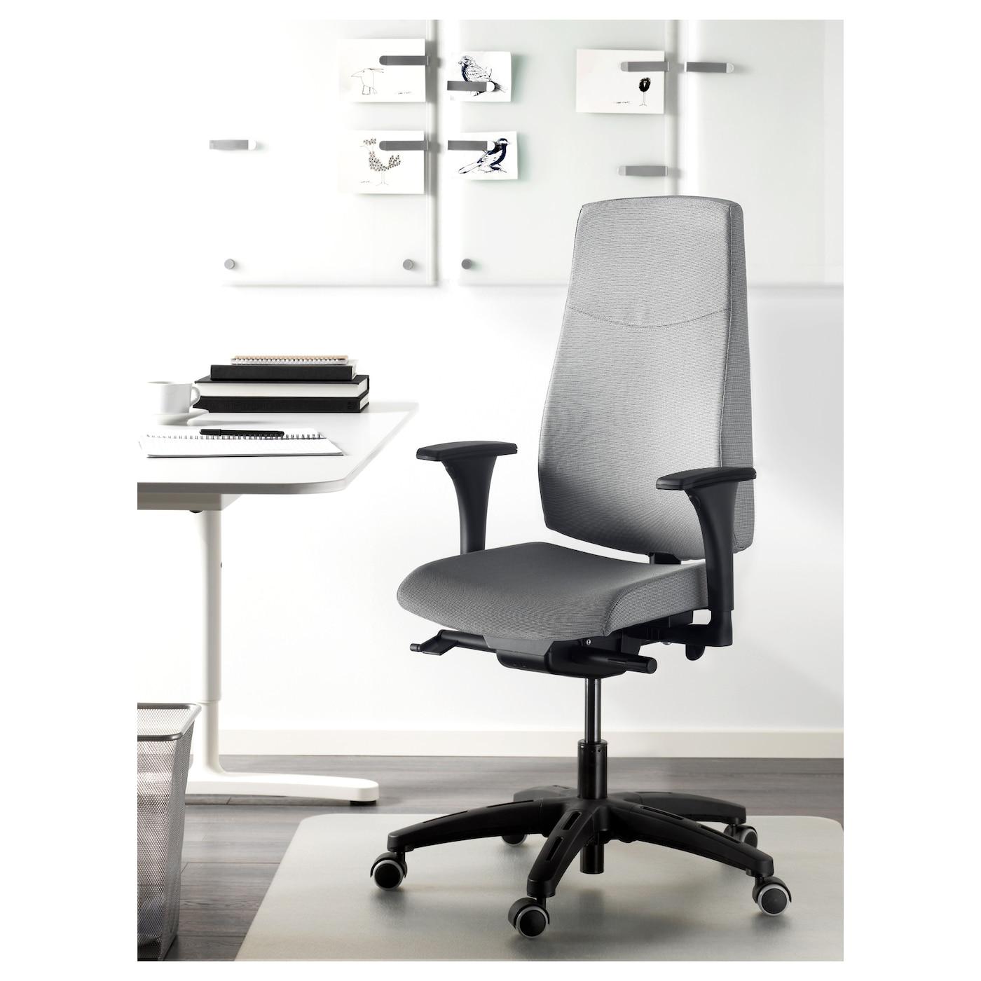 VOLMAR Swivel chair with armrests Grey IKEA