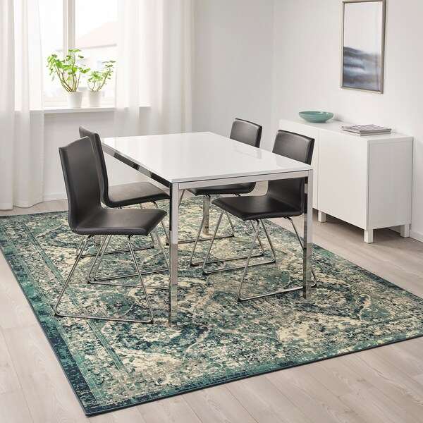 VONSBÄK rug, low pile green 300 cm 200 cm 8 mm 6.00 m² 1700 g/m² 645 g/m² 6 mm