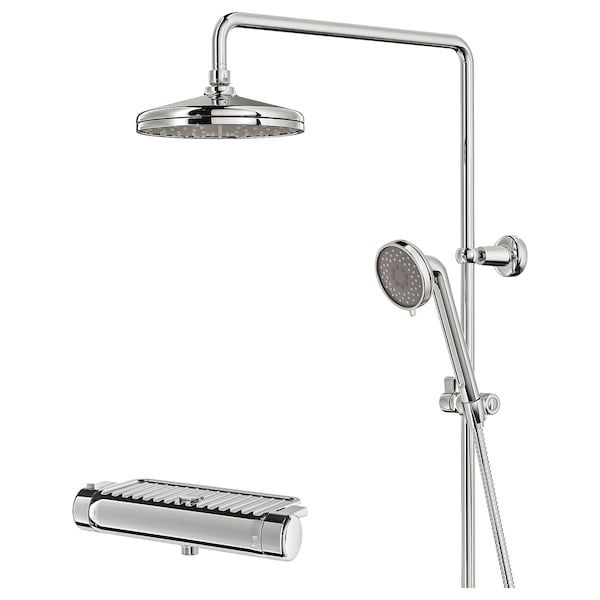 VOXNAN shower set with thermostatic mixer chrome-plated 150 mm 90 mm 200 mm 1500 mm 290 mm 580 mm 1160 mm
