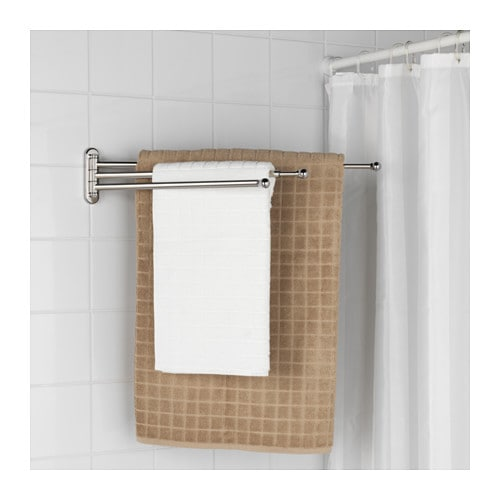 Voxnan towel holder chrome effect ikea Towel storage ideas ikea