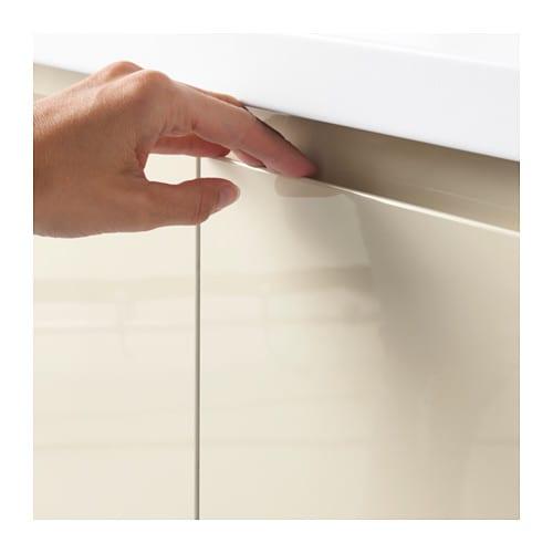 Voxtorp door high gloss light beige 40x120 cm ikea for Cuisine ikea gloss