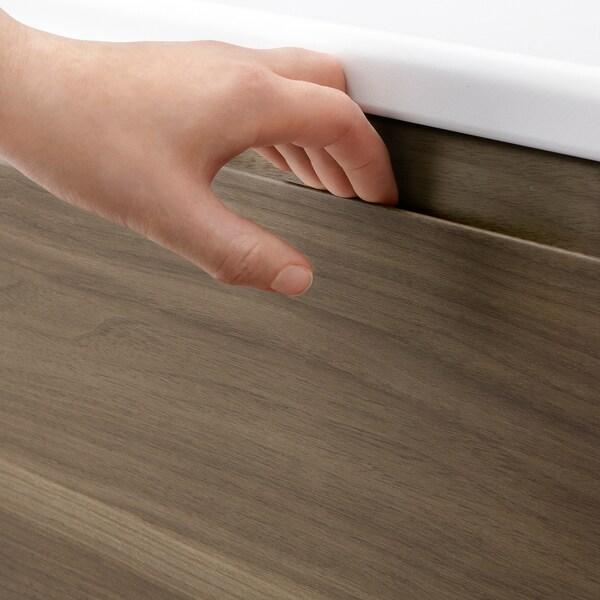 VOXTORP drawer front walnut effect 39.6 cm 39.7 cm 2.1 cm