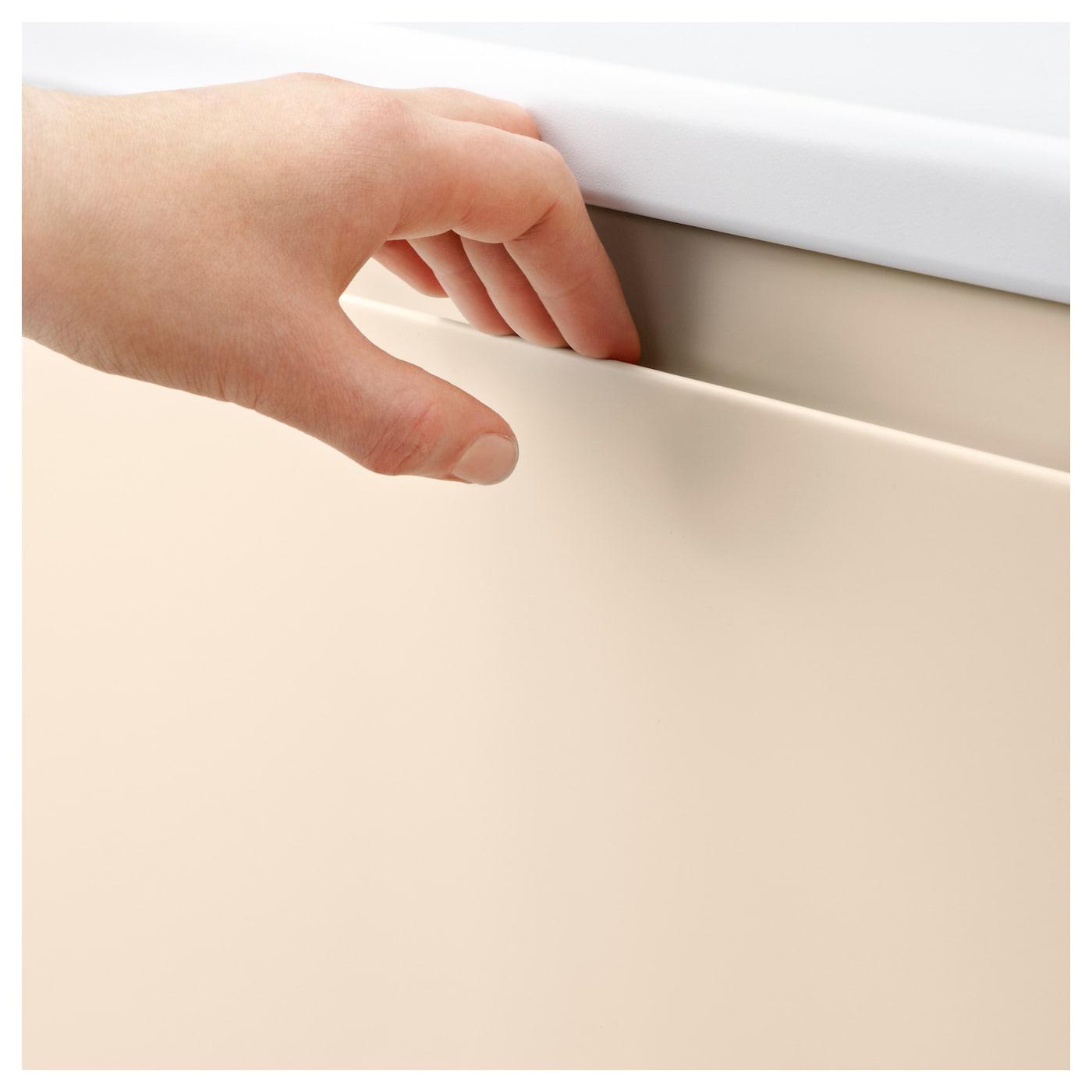 Voxtorp front for dishwasher light beige 45x80 cm ikea - Cuisine ikea blanc mat ...