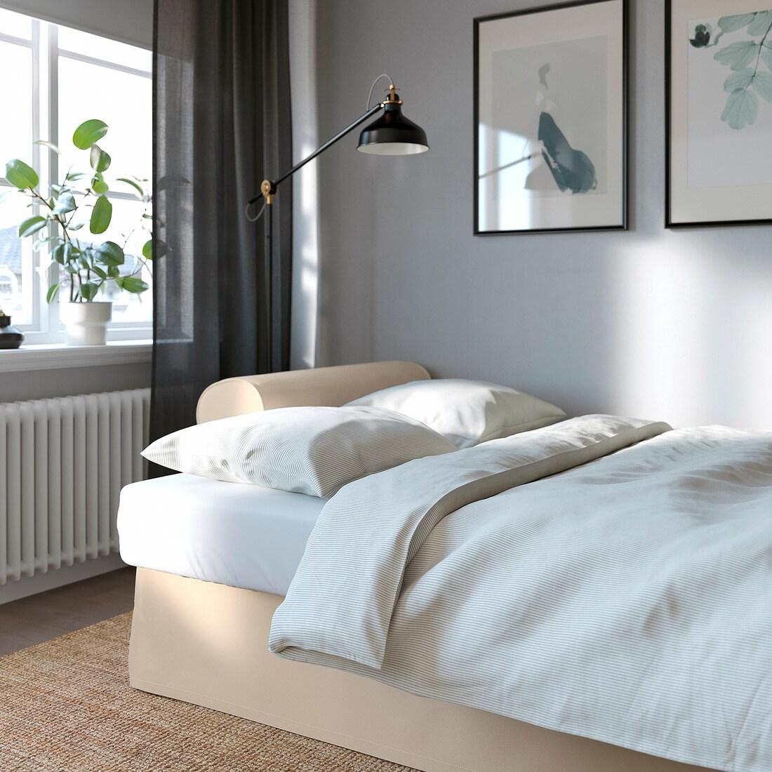 VRETSTORP 3 seat sofa bed   Hallarp beige   IKEA