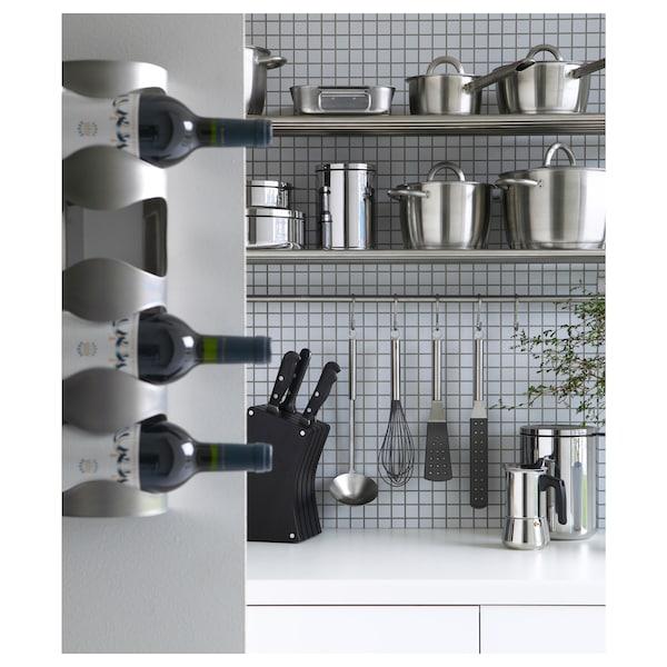 VURM 4-bottle wine rack, stainless steel