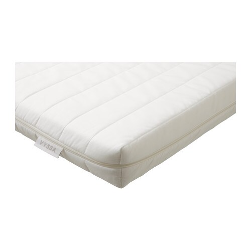 VYSSA SNOSA Mattress for cot IKEA A durable mattress that can be used for a longer period of time.
