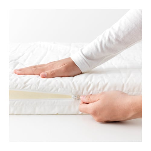 ikea vyssa snosa mattress for junior bed breathable cover that is nice and soft against the