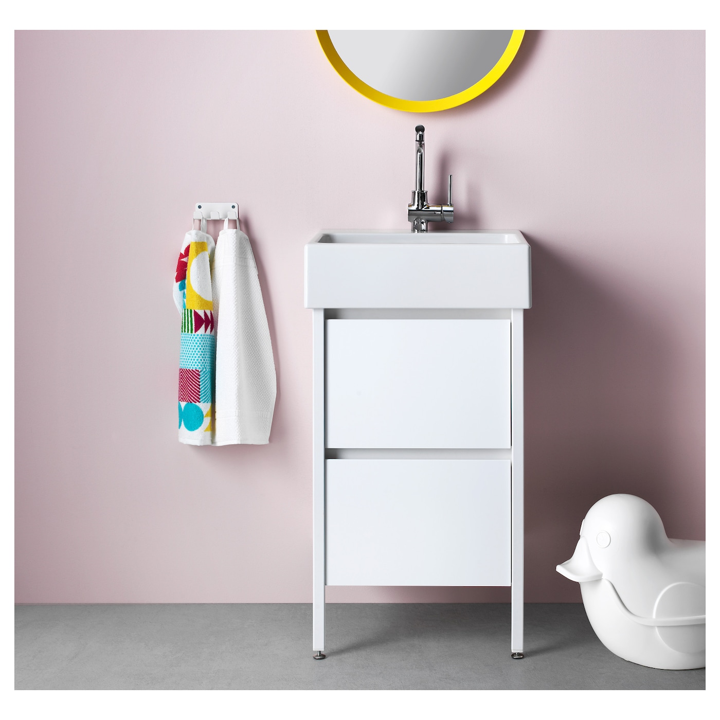 yddingen wash stand with 2 drawers white 49x90 cm ikea. Black Bedroom Furniture Sets. Home Design Ideas