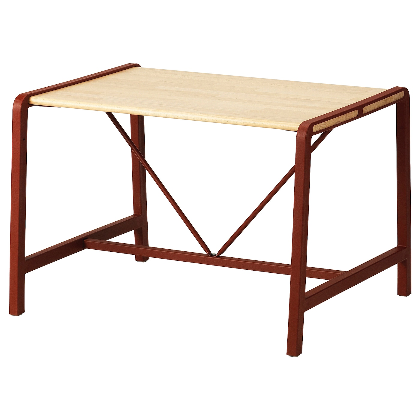 IKEA YPPERLIG children's table Solid beech is a hard-wearing natural material.