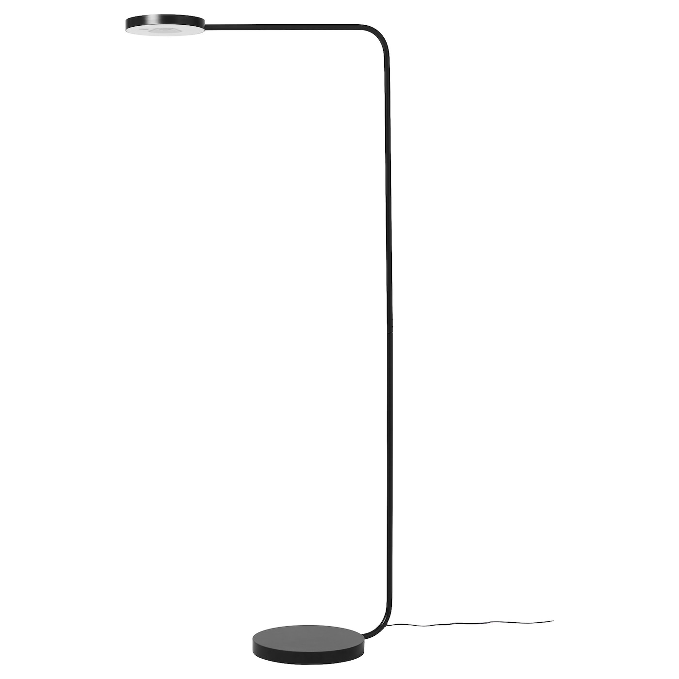 ypperlig led floor lamp dark grey ikea. Black Bedroom Furniture Sets. Home Design Ideas