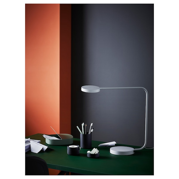 YPPERLIG LED table lamp, light grey