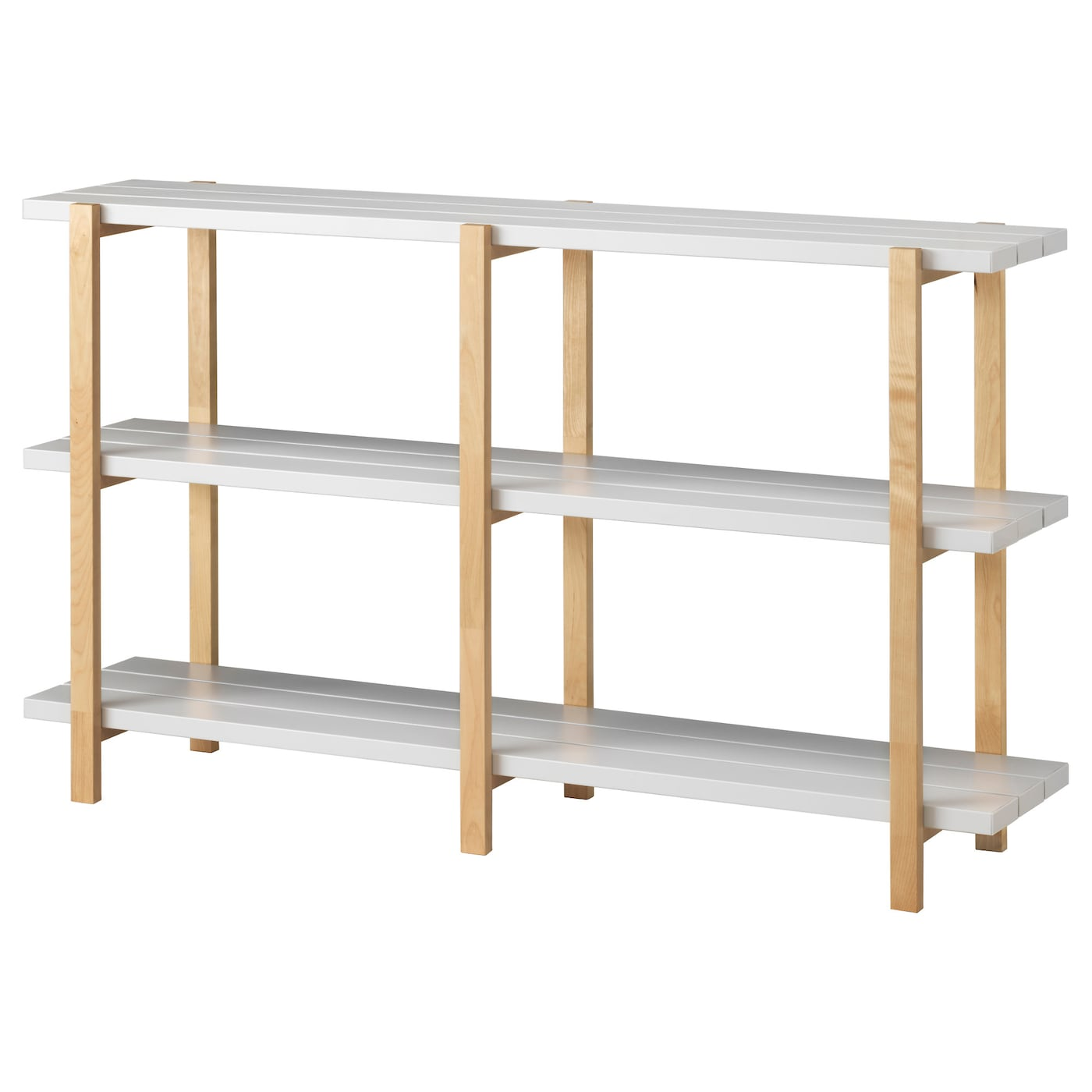 Ikea Ypperlig Shelving Unit Solid Birch Is A Hard Wearing Natural Material