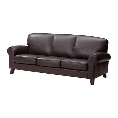 YSTAD Three-seat sofa IKEA Seat surfaces and armrests in soft, hardwearing, easy care grain leather.