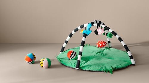 Babygym, speelkleden & mobielen