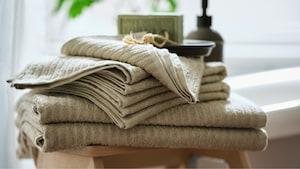 Tekstiler til badeværelset