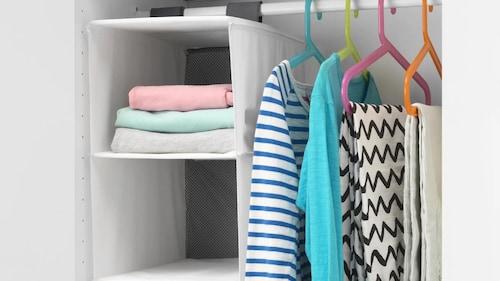 Organização para roupa e sapatos para crianças