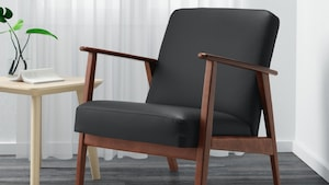 Coated fabric armchairs