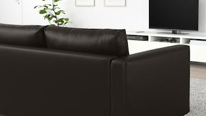 Coated fabric two-seat sofas