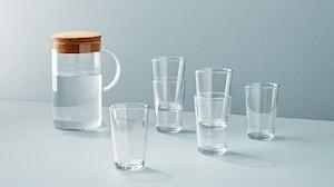 Skleněné nádobí a džbány