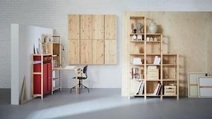 IVAR hyllsystem i trä