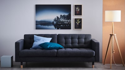 Leather/coated fabric three-seat sofas