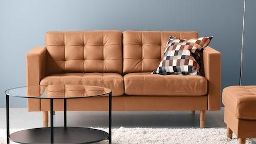 Canapele cu 2 locuri din piele/piele artificială