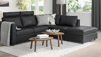 Modular leather/coated fabric sofas