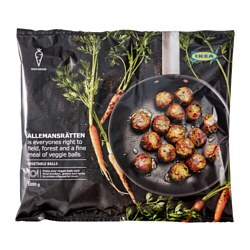 ALLEMANSRÄTTEN vegetarijanske okruglice, zamrznuto, veganske 100% udio povrća