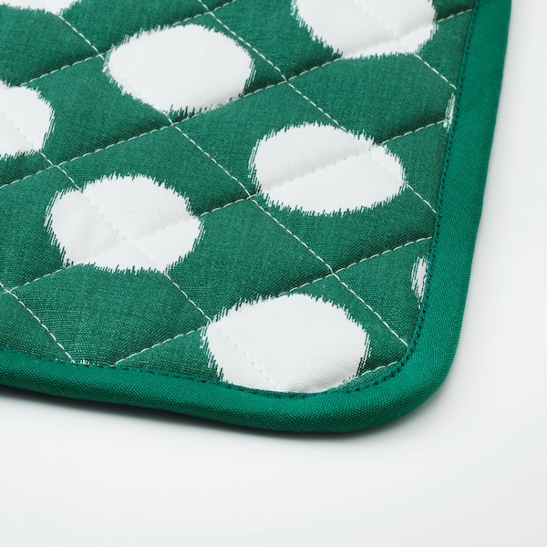 ALVALISA držač za lonac zelena/bijela 23 cm 23 cm 2 kom