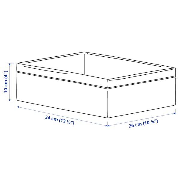 BAXNA Organizator, siva/bijela, 26x34x10 cm
