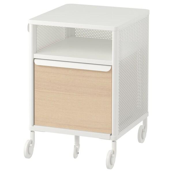BEKANT Jedinica za odlaganje,kotači, mreža bijela, 41x61 cm
