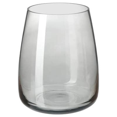 BERÄKNA Vaza, svijetlosiva, 18 cm