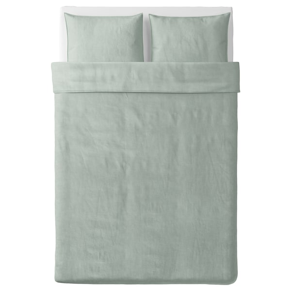 BERGPALM navlaka i 2 jastučnice zelena/crta 118 inc² 2 kom 200 cm 200 cm 50 cm 60 cm