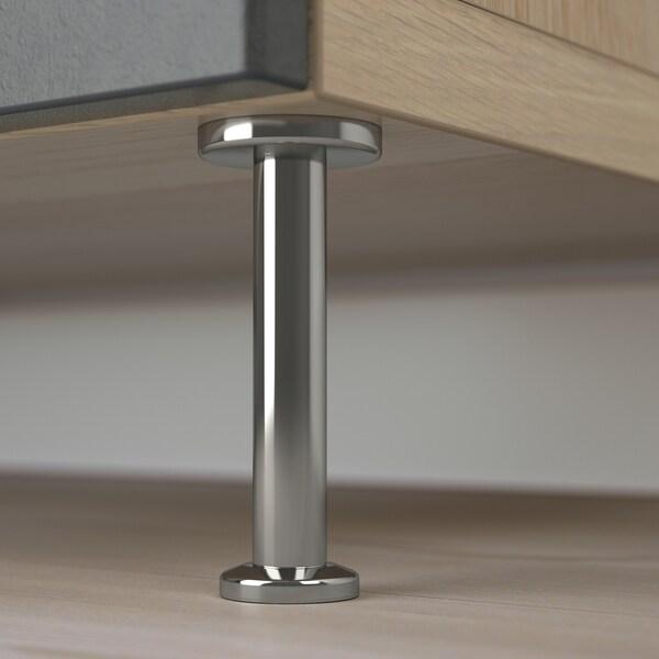 BESTÅ Komb/odlaganje+vrata/ladice, efekt bijelo bajcanog hrasta Kallviken/Stallarp/tamnosiva efekt betona, 120x40x74 cm