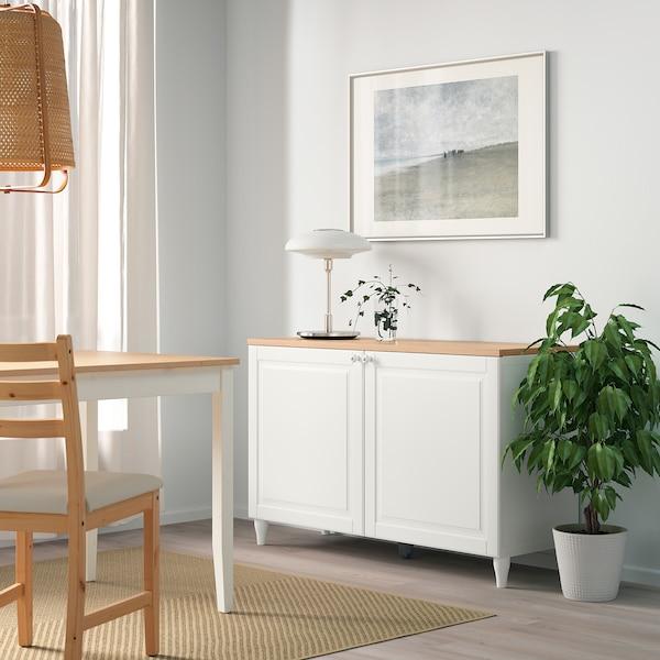 BESTÅ Komb za odlaganje s vratima, bijela/Smeviken/Kabbarp bijela, 120x42x76 cm