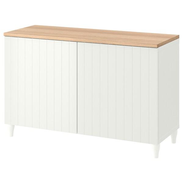 BESTÅ Komb za odlaganje s vratima, bijela/Sutterviken/Kabbarp bijela, 120x42x76 cm