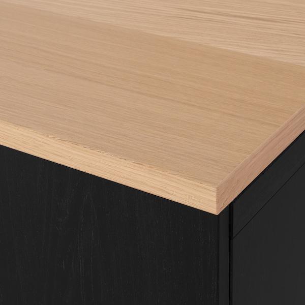 BESTÅ Komb za odlaganje s vratima, crno-smeđa/Lappviken/Stubbarp crno-smeđa, 120x42x76 cm
