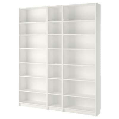BILLY Biblioteka, bijela, 200x28x237 cm
