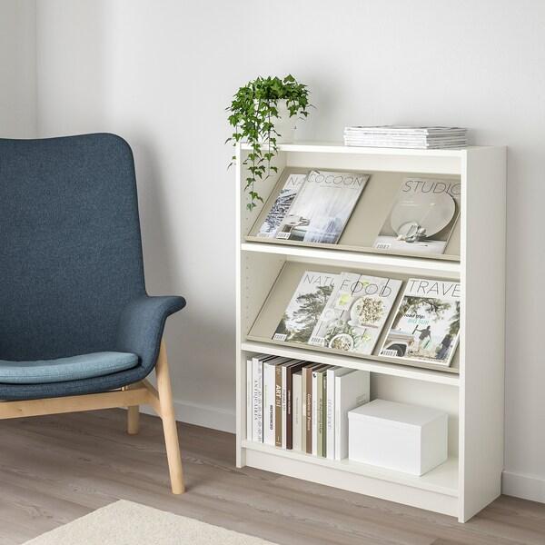BILLY / BOTTNA Biblioteka s izložbenom policom, bijela/bež, 80x28x106 cm