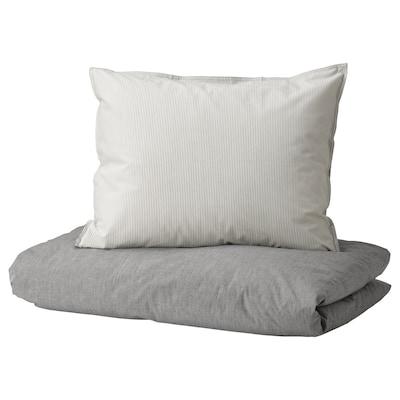 BLÅVINDA Navlaka za poplun i 2 jastučnice, siva, 200x200/50x60 cm
