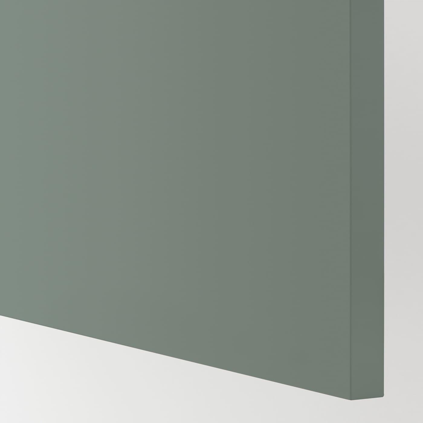 BODARP Fronta za perilicu posuđa, sivo-zelena, 45x80 cm