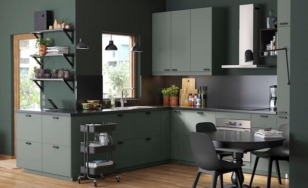 BODARP Postolje, sivo-zelena, 220x8 cm
