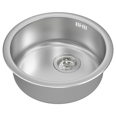 BOHOLMEN Ugrad sudoper,1 bazen, nehrđajući čelik, 45x15 cm