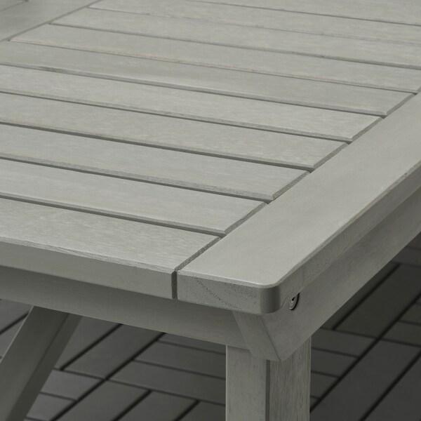 BONDHOLMEN Stol i 6 stolica s nasl ruk, vanjsk, sivi bajc/Kuddarna bež