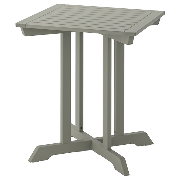 BONDHOLMEN Stol, vanjski, siva, 65x65 cm