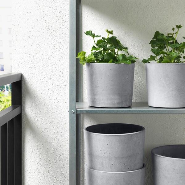 BOYSENBÄR tegla za biljke u zatvorenom/na otvorenom svijetlosiva 16 cm 18 cm 15 cm 16 cm