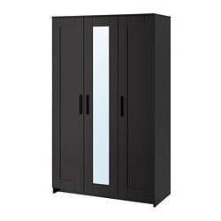 BRIMNES ormar + 3 vrata, 117x190 cm, crna
