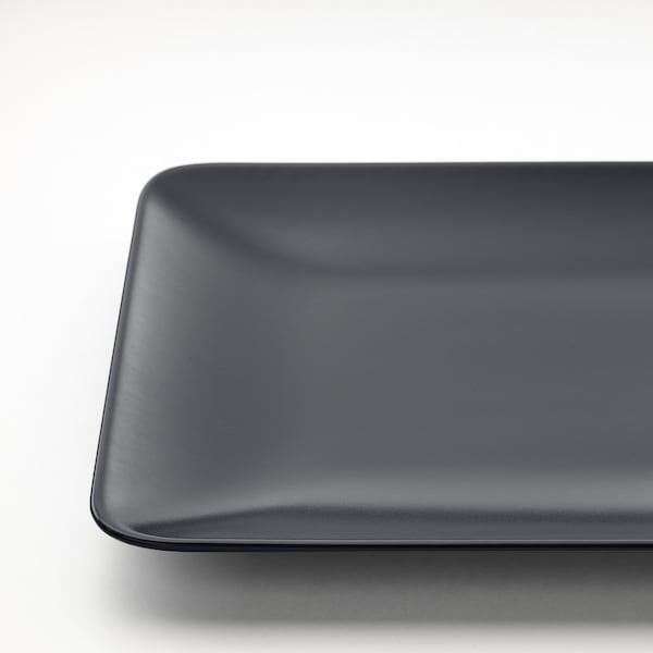 DINERA Tanjur, tamnosiva, 30x20 cm