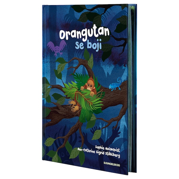 DJUNGELSKOG knjiga Orangutan se boji 32 kom 22.2 cm 31.4 cm