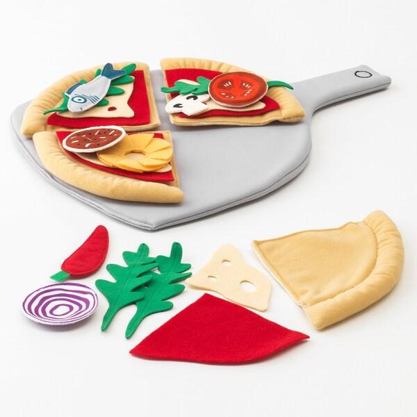 DUKTIG Set za pizzu, 24 kom, Pizza/višebojno